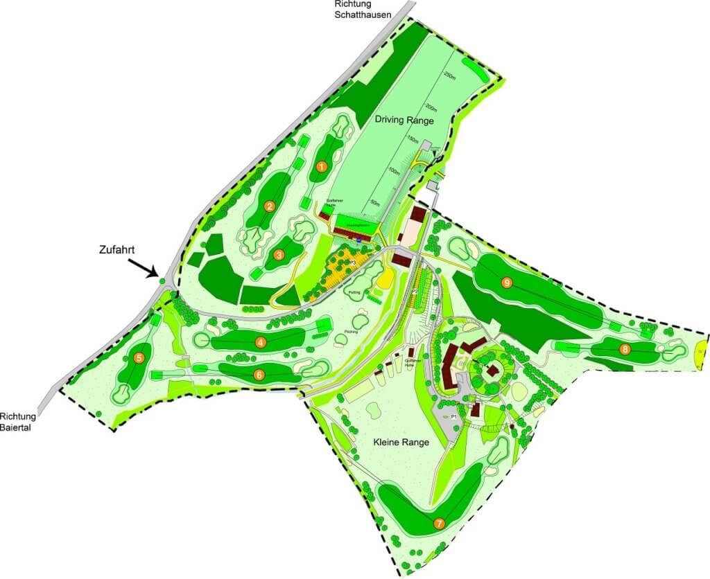 Plan Eseslpfad Golfplatz